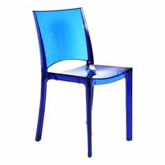 silla CLARA transparente color azul