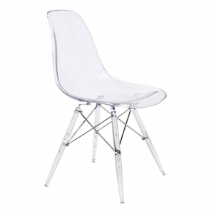 silla EAMES GLASS transparente