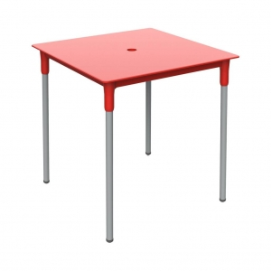 mesa BERLIN metálica color rojo